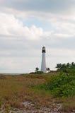海角佛罗里达灯塔,海滩,植被,比尔Baggs海角佛罗里达国家公园,被保护区,草叶, Key Biscayne 库存图片