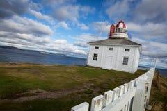 海角俯视大西洋的矛灯塔 库存照片