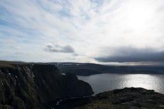 海角北部挪威 图库摄影