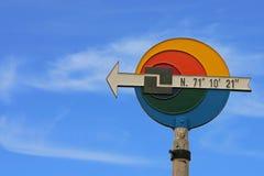 海角北部符号 免版税库存照片