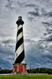 海角卡罗来纳州北部hatteras的灯塔 免版税库存照片