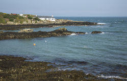 海角和海洋玉兰的在Anglesey,威尔士,英国 库存照片