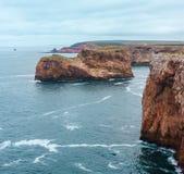 海角圣文森特海岸,阿尔加威,南葡萄牙 图库摄影