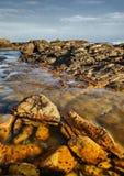 海角圣法兰西斯-海滩岩石 免版税库存图片