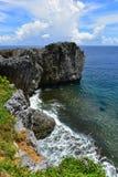 海角在冲绳岛北部的Hedo海岸线  库存照片
