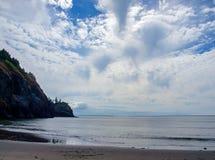 海角在华盛顿海岸美国的失望灯塔 免版税库存图片