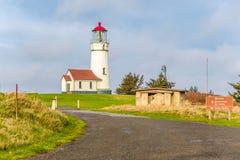 海角在太平洋海岸的布兰科灯塔,在1870年修造 库存照片