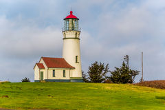海角在太平洋海岸的布兰科灯塔,在1870年修造 免版税库存图片