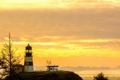海角在日出的失望灯塔,在1856年建立 免版税图库摄影