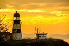 海角在日出的失望灯塔,在1856年建立 免版税库存照片