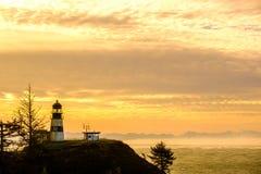 海角在日出的失望灯塔,在1856年建立 库存照片