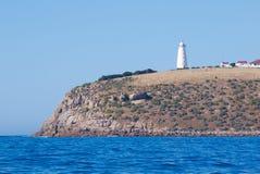 海角在袋鼠海岛,南澳大利亚上的威洛比灯塔 库存图片
