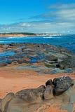 海角在Kilcunda澳大利亚的特森海岸线 库存照片