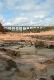 海角在Kilcunda澳大利亚的特森海岸线 免版税库存照片