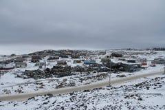 海角多西特,有雪层数的努纳武特看法在地面上的 图库摄影