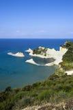 海角峭壁corfu drastis希腊 免版税库存图片