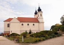 海角教会tihany的匈牙利 免版税库存照片