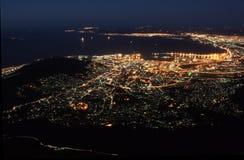 海角晚上城镇 免版税库存照片