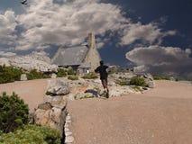 海角横向山表城镇 图库摄影