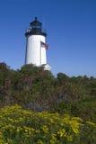 海角波格灯塔塔在马萨葡萄园岛 免版税图库摄影