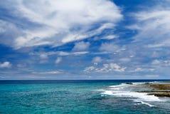 海角珊瑚礁岩石 库存图片