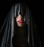 海角的美丽的妇女 免版税库存照片