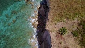 海角的鸟瞰图,海岸, Sant `艾琳,布里亚蒂科,意大利 影视素材