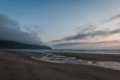 海角监视海滩风景看法  免版税库存图片