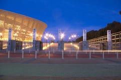 海角绿色点体育场城镇 库存图片