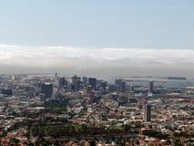 海角顶部城镇视图 库存照片