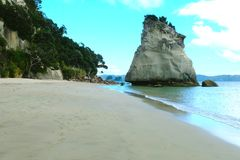 海角Coromandel峭壁北部海岛看法  免版税库存图片