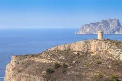 海角DÂ'Or,阿利坎特,西班牙海岸 免版税库存照片