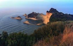 海角Drastis -科孚岛-希腊 库存照片