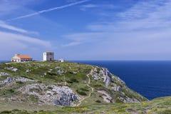 海角Espichel灯塔,葡萄牙的地面 图库摄影