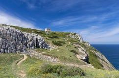 海角Espichel灯塔,葡萄牙的地面 库存图片