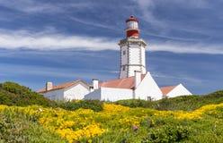 海角Espichel灯塔,葡萄牙 免版税图库摄影