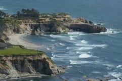 海角Foulweather俯视-俄勒冈中海岸 库存照片