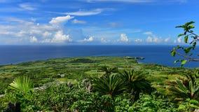 海角Hedo全景在冲绳岛 库存照片