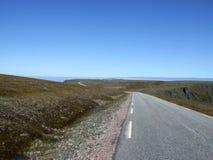 海角nordkapp北部路 库存图片