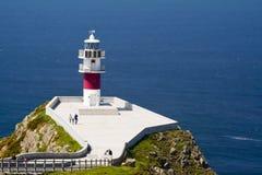 海角Ortegal,加利西亚,西班牙灯塔  免版税库存照片