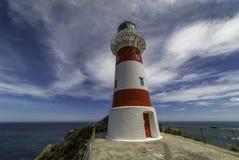 海角Palliser灯塔新西兰 免版税库存照片