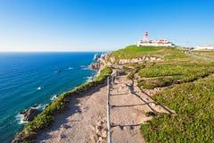 海角Roca,葡萄牙 免版税库存图片