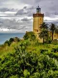 海角Spartel灯塔在唐基尔,摩洛哥 免版税图库摄影