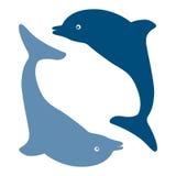 海豚剪影 库存照片