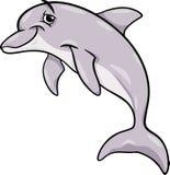 海豚动物动画片例证 库存例证