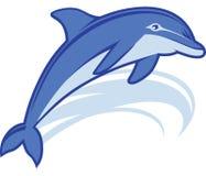 海豚吉祥人 库存图片