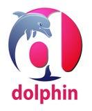 海豚商标设计 免版税库存照片