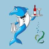海豚是侍者 免版税库存照片