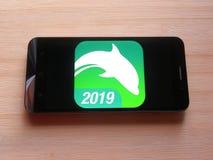 海豚浏览器应用程序 免版税图库摄影