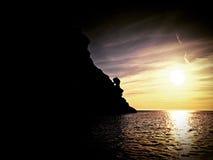 海豚点伊维萨岛 库存图片